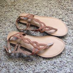 Pac Sun sandals never worn Brown flat sandals. Black Poppy Shoes Sandals