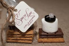 Smore love wedding favors