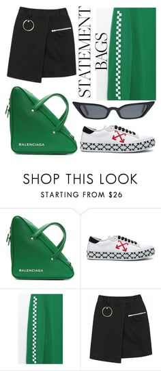 """""""#6"""" by isadoraa ❤ liked on Polyvore featuring Balenciaga, Off-White and Vans"""