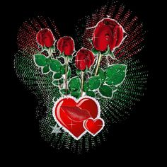 Hearts And Red Roses Picture