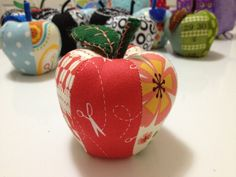 Rosey Sewing Apple Pincushion-sewing pincushion apple