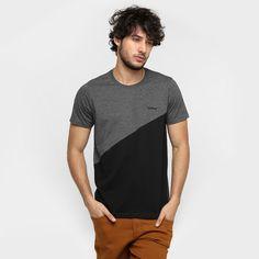Camiseta Yellowl Recorte Bicolor - Mescla Escuro
