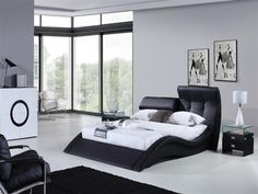 contemporary piece of bedroom furniture in the mary ann modern leather