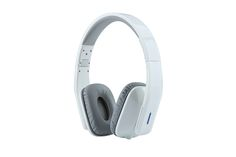 Whitelabel® Bassone Bluetooth 4.0 Over Ear Headphones, Wireless Stereo Headsets Earphones, Built in Mic Hands-free Calling, 3.5mm Audio Input, Wireless or Wired (Bassone White Grey)