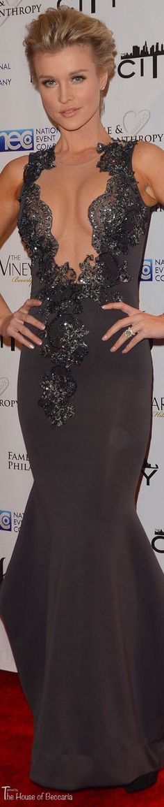 ~Joanna Krupa wearing designer Walter Mendez at the 2014 Post Oscar Fame & Philanthropy Party in Beverly Hills | The House of Beccaria