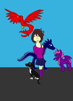 Me, and my fantasy friends by Nika0625.deviantart.com on @DeviantArt
