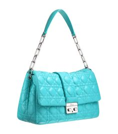 Caribbean blue leather 'Dior New Lock' bag