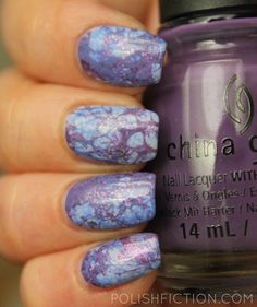 Triple water spotted nail art