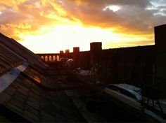 Sunset. A beautiful evening over Nottingham Castle. #elementalforce