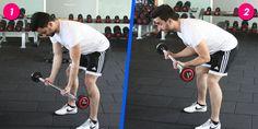 Bent over biceps curl nasıl yapılır? - http://temelsafinaz.com/bent-over-biceps-curl-hareketi/