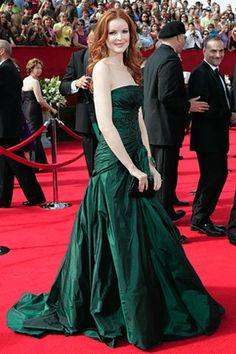 Marcia Cross in a emerald green dress.