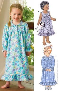 Kwik Sew Toddler Nightgowns Pattern