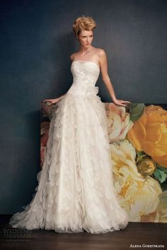alena goretskaya bridal 2014 gretta strapless wedding dress