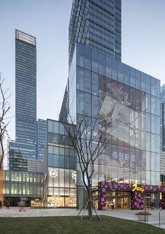 Kohn Pedersen Fox Associates: Projects: Michael Kors Jing An Kpf Architecture, Commercial Architecture, Sustainable Architecture, Contemporary Architecture, Retail Facade, Commercial Complex, Mixed Use Development, Glass Facades, Modern Buildings
