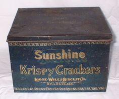 Sunshine Krispy Crackers Tin