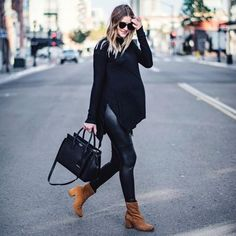 50 comfortable and stylish maternity outfits in street style sexy mommy looks! - 50 comfortable and stylish maternity outfits in street style sexy mommy looks! Winter Maternity Outfits, Stylish Maternity, Maternity Wear, Maternity Looks, Maternity Nursing, Maternity Photos, Fashion Maman, Pregnancy Looks, Pregnancy Tips