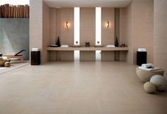 Minoli Tiles - Advance - Advance Moca Creme by Minoli is one of the most classic choices for a bathroom! Look at this stone effect collection - Floor Tiles: Advance Moca Creme 60 x 60cm. / Wall Tiles: Adance Moca Creme 30 x 60 cm., Advance Moca Creme Mosaic 30 x 60 cm. / - https://www.minoli.co.uk/tiles/advance-moca-creme/ - #stonelook #stoneeffect #stone #look #effect #cream #porcelain #tiles #Adance #Minoli