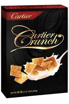 Designer Breakfast Foods, The Cereal Couture Series Gives Morning Meals a Luxury Lift.