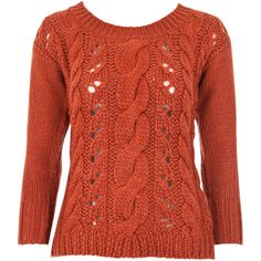 Cable Knit Jumper ❤ liked on Polyvore