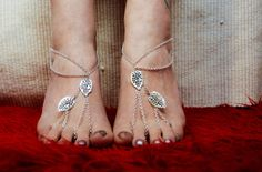 Barefoot Jewel Sandals, Delicate Toe Anklets with Freshwater Beads,  Yoga Beach Sandals, Foot Jewelry Nude Shoes on Etsy, $28.24