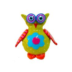 Owl sculpture made with polymer clay by MIRAKRIS on Etsy