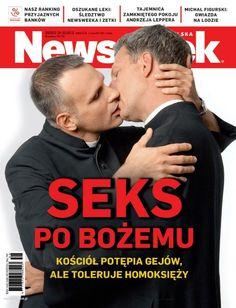 """Całujący się księża na okładce """"Newsweeka"""""""
