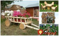 Úžasné nápady z odpadového dreva, konárov, alebo polien či drevených pahýľov, ktoré ležia na vašom pozemku bez využitia. Môžete z nich mať napríklad drobné dekorácie, alebo aj krásne kusy záhradného nábytku - napríklad krásnu drevenú … Firewood, Gardening, Texture, Outdoor Decor, Crafts, Diy, Design, Decorating, Home Decor