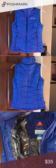 Columbia NWOT Medium blue winter vest! Never worn! NWOT Columbia blue/purple vest! In great condition and perfect for the upcoming season! Columbia Jackets & Coats Vests