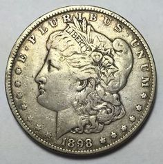 90% Silver 1898 Morgan Silver Dollar