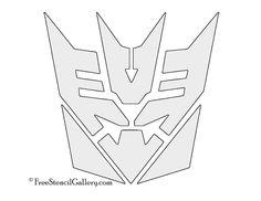 Thundercats symbol stencil projects to try pinterest tranformers decepticon symbol stencil pronofoot35fo Images