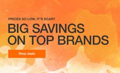 Prices so low, it's scary - Big savings on top brand - Shop deals