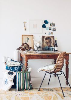 bohemian modern workspace at home with angela van der meulen. / sfgirlbybay