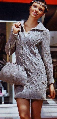 Платье спицами / Вязание спицами / Вязание для женщин спицами. Схемы