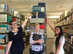 Allison, Nancy and Sandra handled much of the Government Documents' move from the 2nd to the 4th floor