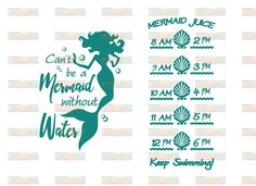 Can't Be a Mermaid Without Water  Water by WillowCreationsUT