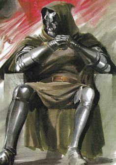 Doctor Doom aka Rabum Alal by Alex Ross Comic Book Artists, Comic Book Characters, Comic Book Heroes, Comic Artist, Marvel Characters, Comic Character, Comic Books Art, Hq Marvel, Marvel Comics Art