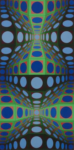Artist: Victor Vasarely French / Hungarian 1906-1997 Title: Pava Date: 1978 Media: Screenprint Edition: ed. 211 of 250 Size: 43 x 25  Signed Vasarely, lower right