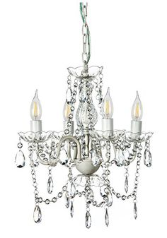 A2S Gypsy Crystal Chandelier - Small White 4-Arm Chandelier - Acrylic Crystals & Solid Iron Design - Boho Chic Style A2S Lighting http://smile.amazon.com/dp/B018WO25PS/ref=cm_sw_r_pi_dp_KMgdxb0ETX2EB