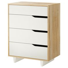 MANDAL Chest of 4 drawers - IKEA - $329 Width: 79 cm, Depth: 48 cm, Height: 103 cm, could fit 3 across (which would give us a total width of 2.37m), sides are solid birch