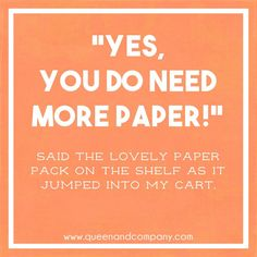 Queen & Co loves to curate custom graphics for fun scrapbook jokes, craft jokes, rubber stamp jokes and DIY jokes. We celebrate the funny side of crafting!