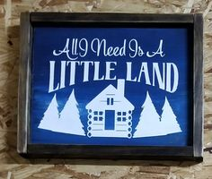 All I need is a little land by Get Rhinestoned #getrhinestoned available at The Weaubleau Junk-tion