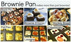 Stuff to make in my brownie pan. www.pamperedchef.biz/yesheather