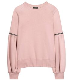 BURBERRY Embellished Cotton-Blend Sweater. #burberry #cloth #sweater