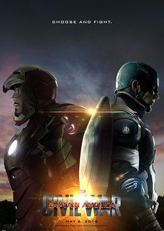 Choose and Fight || Tony Stark, Steve Rogers || Captain America: Civil War || by sahinduezguen || 736px × 1,041px || #fanart #poster