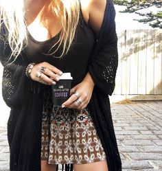 Good morning from Bijou HQ  Starting the day with a dose a coffee  Our favourite Stardust Kimono & this gorgeous new @findingfithelabel skirt