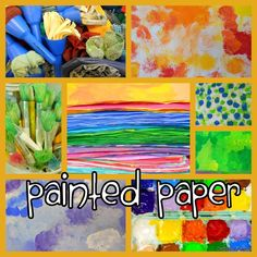 Detailed post explaining how to make painted paper for art projects