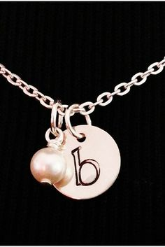 personalized gift for the bride / new monogram necklace