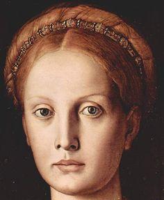 Bronzino (Agnolo di Cosimo) ~ Portrait of Lucrezia Panciatichi (detail), 1540