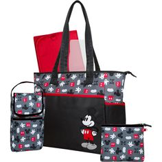 Disney Mickey Mouse 5-in-1 Diaper Tote: Baby Gear : Walmart.com...its cheap!! hooray!!