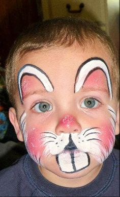 Adorable Bunny Face Painting Baby
